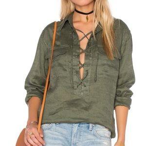 Equipment 100% Linen blouse